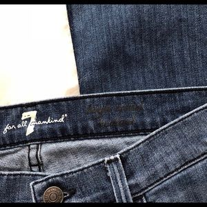 7 for all mankind jeans high waist bootcut